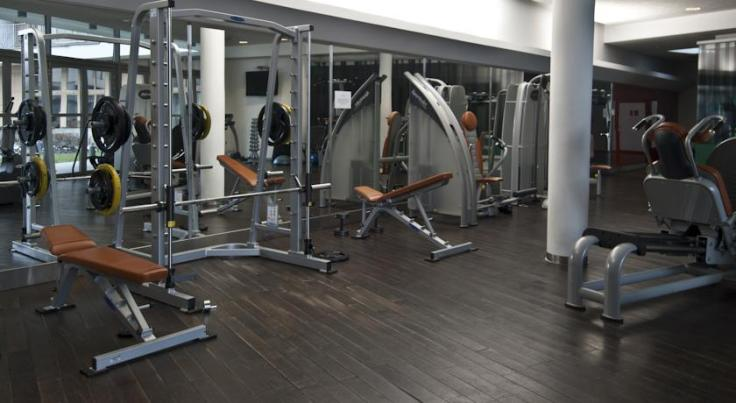 The gym at the Angel Plaza apartments in Krakow